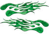 Extreme Flame Decals in Green Camouflage
