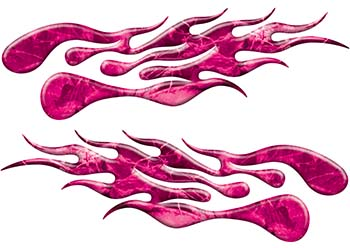 Extreme Flame Decals in Pink Camouflage