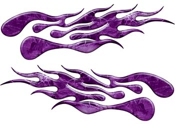 Extreme Flame Decals in Purple Camouflage