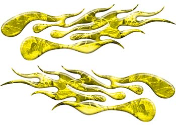 Extreme Flame Decals in Yellow Camouflage
