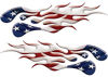 Extreme Flame Decals with American Flag