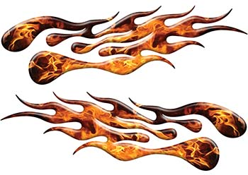 Extreme Flame Decals in Inferno