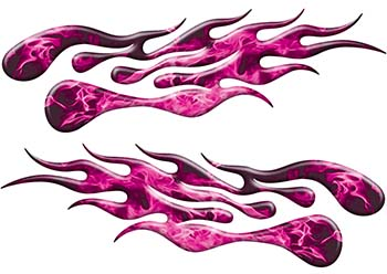 Extreme Flame Decals in Pink Inferno