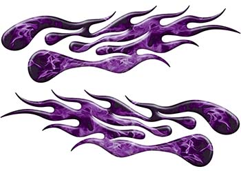 Extreme Flame Decals in Purple Inferno