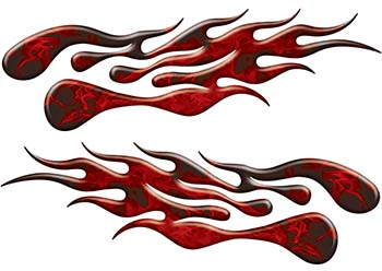 Extreme Flame Decals in Red Inferno