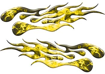 Extreme Flame Decals in Yellow Inferno