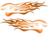 Extreme Flame Decals in Orange
