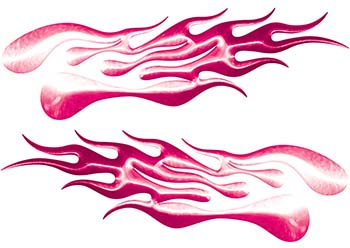 Extreme Flame Decals in Pink