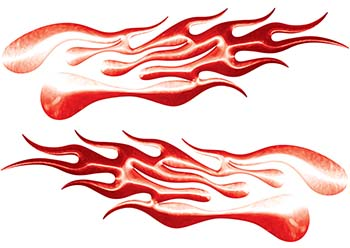 Extreme Flame Decals in Red