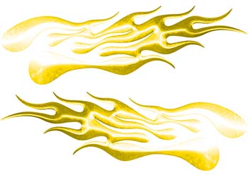 Extreme Flame Decals in Yellow