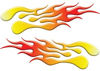Extreme Flame Decals in Yellow to Red Fade
