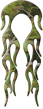 Motorcycle Fender, Car or Truck Flame Graphic in Camouflage