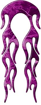 Motorcycle Fender, Car or Truck Flame Graphic in Purple Camouflage