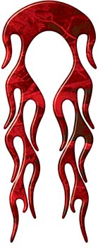 Motorcycle Fender, Car or Truck Flame Graphic in Red Camouflage