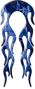 Motorcycle Fender, Car or Truck Flame Graphic in Blue Inferno Flames