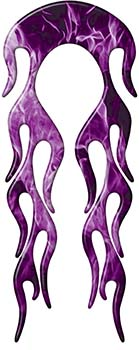 Motorcycle Fender, Car or Truck Flame Graphic in Purple Inferno Flames