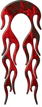 Motorcycle Fender, Car or Truck Flame Graphic in Red Inferno Flames