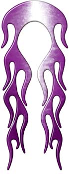 Motorcycle Fender, Car or Truck Flame Graphic in Purple