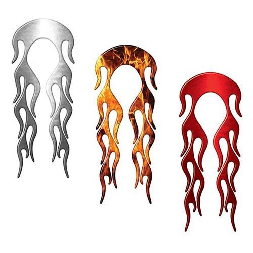 Motorcycle Fender, Car or Truck Flame Decal