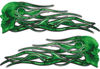 New School Street Rod Classic Car Style Evil Shull Flame Stickers / Decal Kit in Green Camouflage