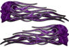 New School Street Rod Classic Car Style Evil Shull Flame Stickers / Decal Kit in Purple Inferno