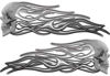New School Street Rod Classic Car Style Evil Shull Flame Stickers / Decal Kit in Silver