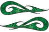 New School Tribal Car Truck ATV or Motorcycle Flame Stickers / Decal Kit in Green Camouflage