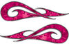 New School Tribal Car Truck ATV or Motorcycle Flame Stickers / Decal Kit in Pink Camouflage