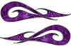 New School Tribal Car Truck ATV or Motorcycle Flame Stickers / Decal Kit in Purple Camouflage