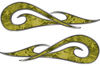 New School Tribal Car Truck ATV or Motorcycle Flame Stickers / Decal Kit in Yellow Camouflage