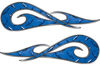 New School Tribal Car Truck ATV or Motorcycle Flame Stickers / Decal Kit in Blue Diamond Plate