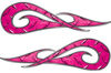 New School Tribal Car Truck ATV or Motorcycle Flame Stickers / Decal Kit in Pink Diamond Plate