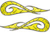 New School Tribal Car Truck ATV or Motorcycle Flame Stickers / Decal Kit in Yellow Diamond Plate