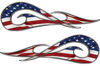 New School Tribal Car Truck ATV or Motorcycle Flame Stickers / Decal Kit with American Flag