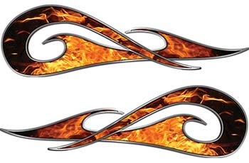 New School Tribal Car Truck ATV or Motorcycle Flame Stickers / Decal Kit in Inferno
