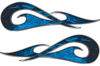 New School Tribal Car Truck ATV or Motorcycle Flame Stickers / Decal Kit in Blue Inferno