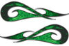 New School Tribal Car Truck ATV or Motorcycle Flame Stickers / Decal Kit in Green Inferno