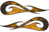 New School Tribal Car Truck ATV or Motorcycle Flame Stickers / Decal Kit in Orange Inferno