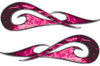 New School Tribal Car Truck ATV or Motorcycle Flame Stickers / Decal Kit in Pink Inferno