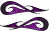 New School Tribal Car Truck ATV or Motorcycle Flame Stickers / Decal Kit in Purple Inferno