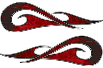 New School Tribal Car Truck ATV or Motorcycle Flame Stickers / Decal Kit in Red Inferno