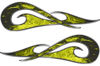 New School Tribal Car Truck ATV or Motorcycle Flame Stickers / Decal Kit in Yellow Inferno