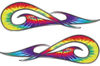 New School Tribal Car Truck ATV or Motorcycle Flame Stickers / Decal Kit in Tie Dye Colors