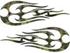 New School Tribal Flame Sticker / Decal Kit in Camouflage