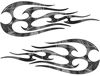 New School Tribal Flame Sticker / Decal Kit in Gray Camouflage