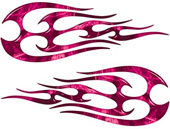 New School Tribal Flame Sticker / Decal Kit in Pink Camouflage