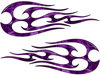 New School Tribal Flame Sticker / Decal Kit in Purple Camouflage