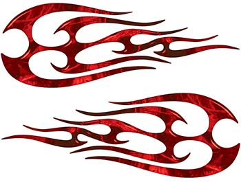 New School Tribal Flame Sticker / Decal Kit in Red Camouflage