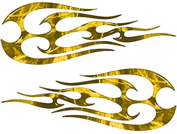 New School Tribal Flame Sticker / Decal Kit in Yellow Camouflage