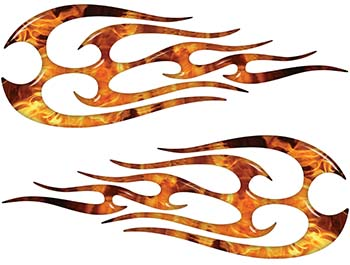New School Tribal Flame Sticker / Decal Kit in Inferno